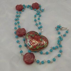 Handmade Cloisenne Necklace